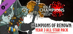 Idle Champions - Champions of Renown: Year 3 All-Star Pack logo