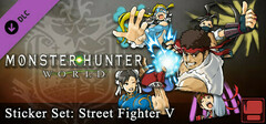 Monster Hunter: World - Sticker Set: Street Fighter V logo